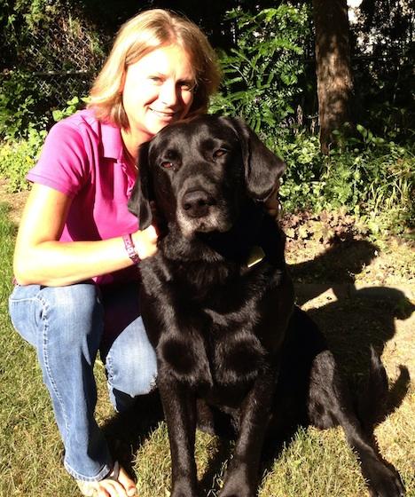 New Quails Gate winemaker Nikki Callaway and her dog, Olli