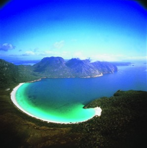 "Wineglass Bay, Tasmania. Used because it's what comes up when you google ""wineglass on the beach."""
