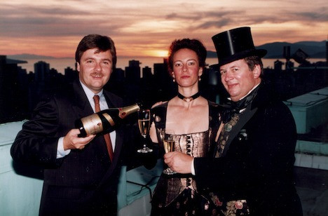 On the Hotel Vancouver roof, with Charles Heidsieck CEO and president Trevor Bell, who flew in for the occasion (Jack Wong photo)
