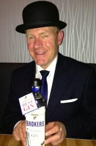 Martin Dawson and Broker's Gin bottle