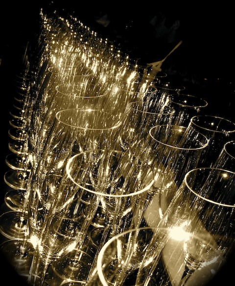 Champagne flutes, copyright Tim Pawsey
