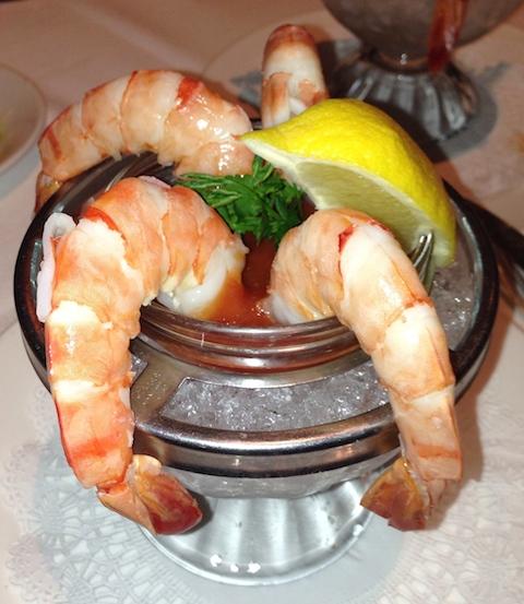 Classic prawn cocktail ...