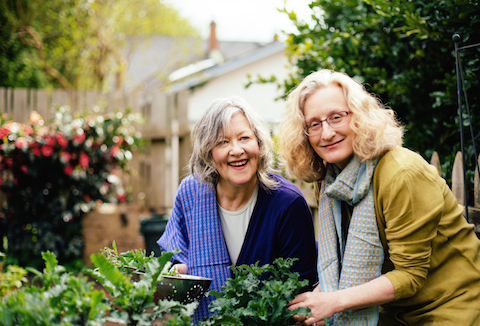The Book of Kale & Friends - authors Sharon Hanna and Carol, photo by Alison Page