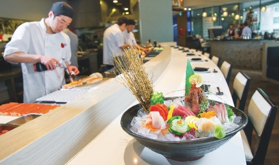 Sashimi platter at Miku, photo: KK Law