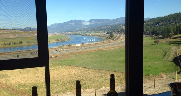 Monte Creek Ranch, east of Kamloops, offers impressive views from its tasting room