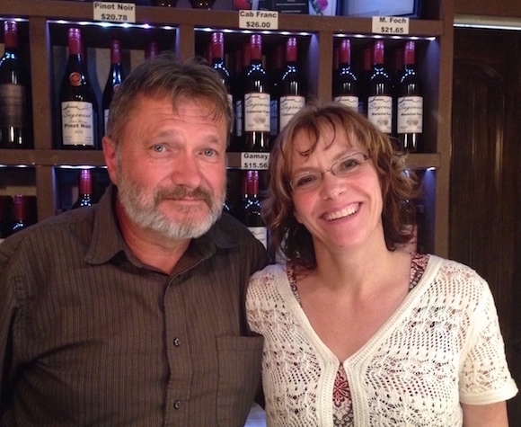 Sagewood owners Doug and Shelly Wood planted their vineyard by hand