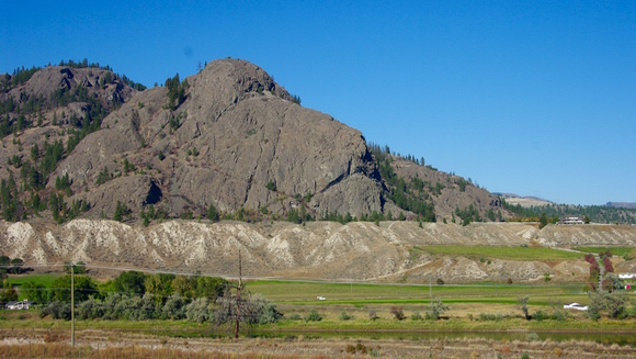 View of the northern benches and Lions Head Vineyard from Monte Creek Ranch, Kamloops