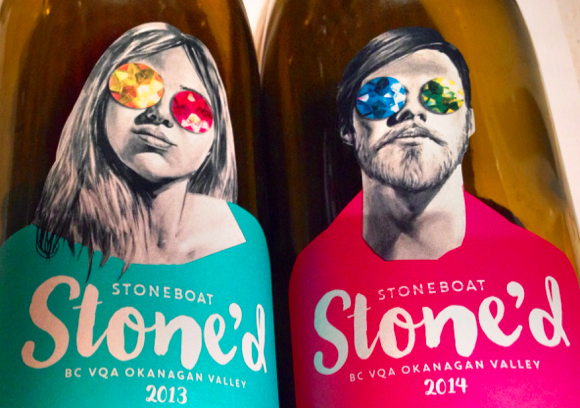 Stoneboat's new Stone'd labels are a marked departure and the start of a whole new image for the winery