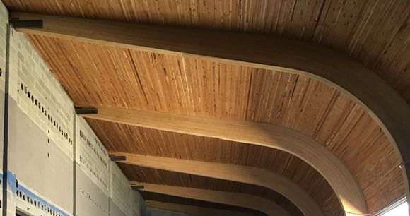 Uncovered ceiling at Penticton's new Time Winery