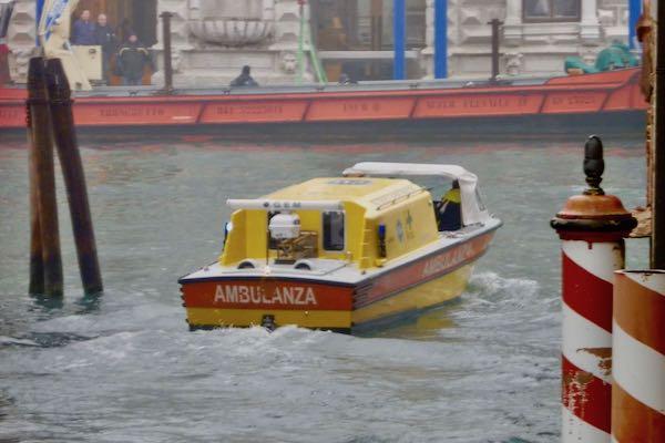 Venice water ambulance