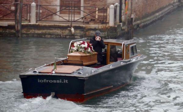 Venice water hearse