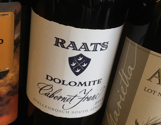 New District Raats Dolomite Cabernet Franc