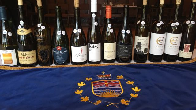Lieutenant Governor's Award Winners for Excellence in BC Wines