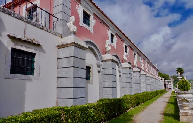 Exterior of the Marquis de Pombal's impressive cellars at Carcavelos