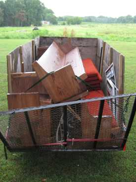 GSD Junk Hauling - Church Pews Hauled