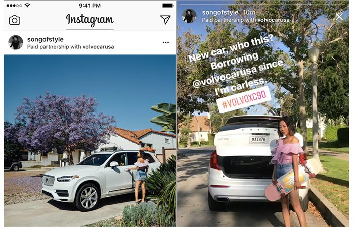 paid partnership instagram tag