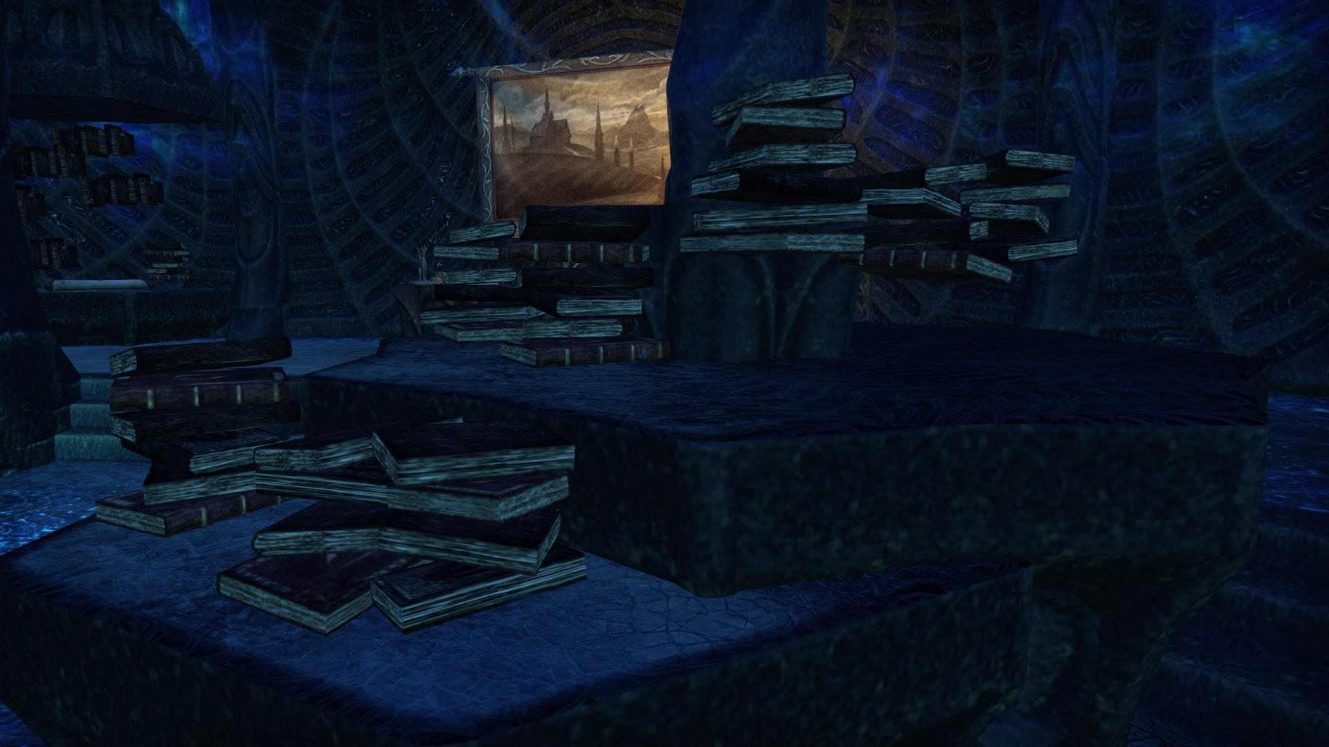 Floating books. How mystical.