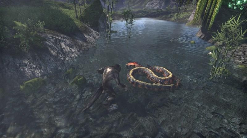 A gigantic snake. A kill worthy of Hircine.