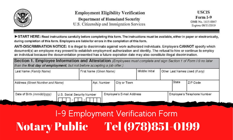 I9 Form Notary Service