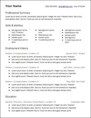 many skills professional summary resume template
