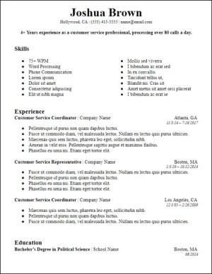 bolded professional summary resume
