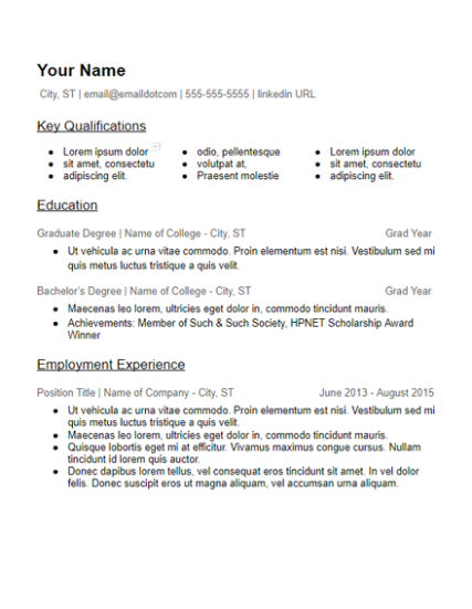Skills Based Resume Templates Free To Download - HirePowers.net