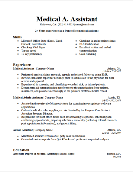 medical_admin_assistant_resume_template_bold