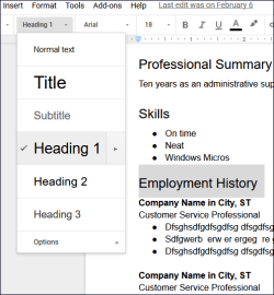 google_docs_resume_format