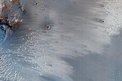 Layering in Uzer Crater Wall