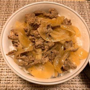 シンプル牛丼