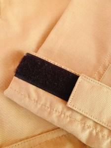 マウンテンパーカーの袖