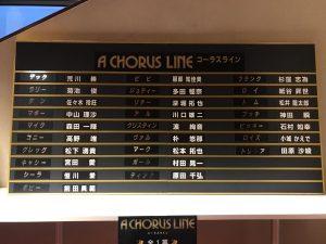 劇団四季『コーラスライン』2020年長野公演