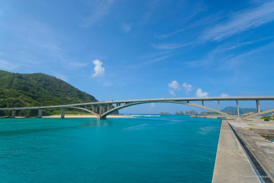 別れの日の阿嘉大橋