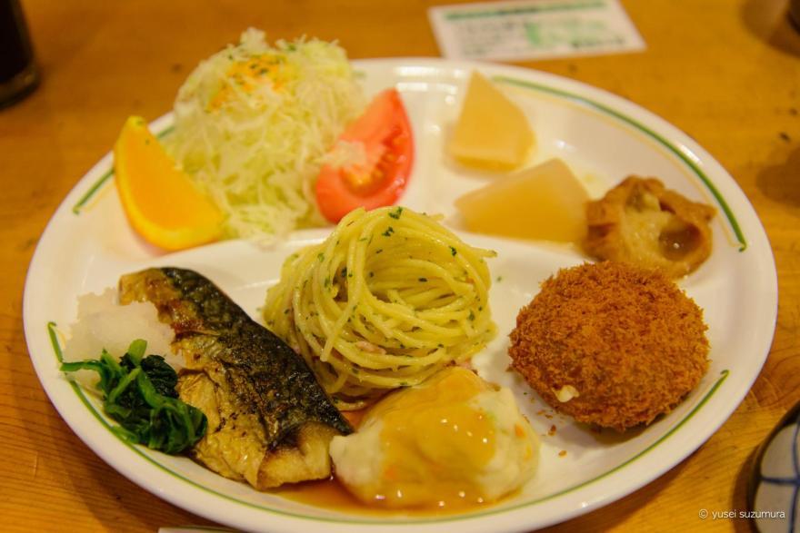 穂高岳山荘の夕食