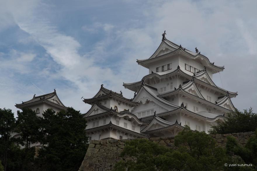 姫路城 オートブラケット 露出暗い