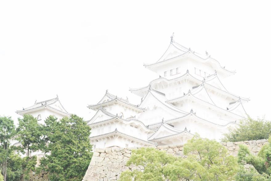 姫路城 オートブラケット 露出明るい