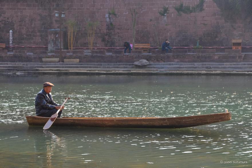 鳳凰古城 船 おじいちゃん