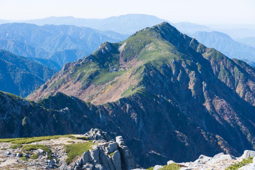 木曽駒ヶ岳 稜線