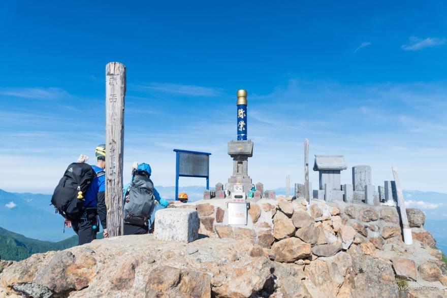 ヘルメット 赤岳 登頂