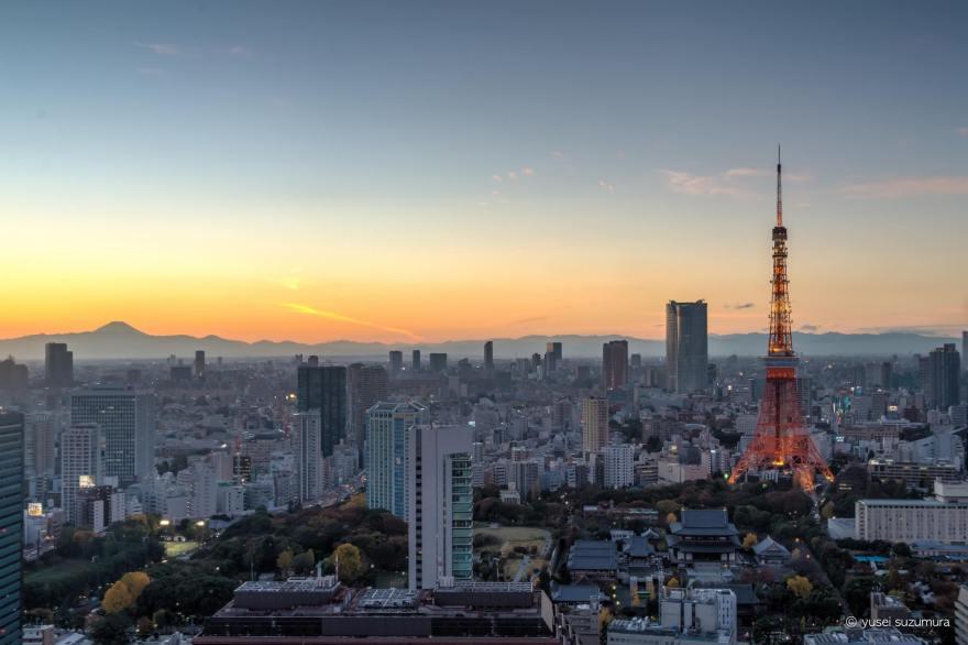 東京タワー 夕焼け 展望台 世界貿易センタービル
