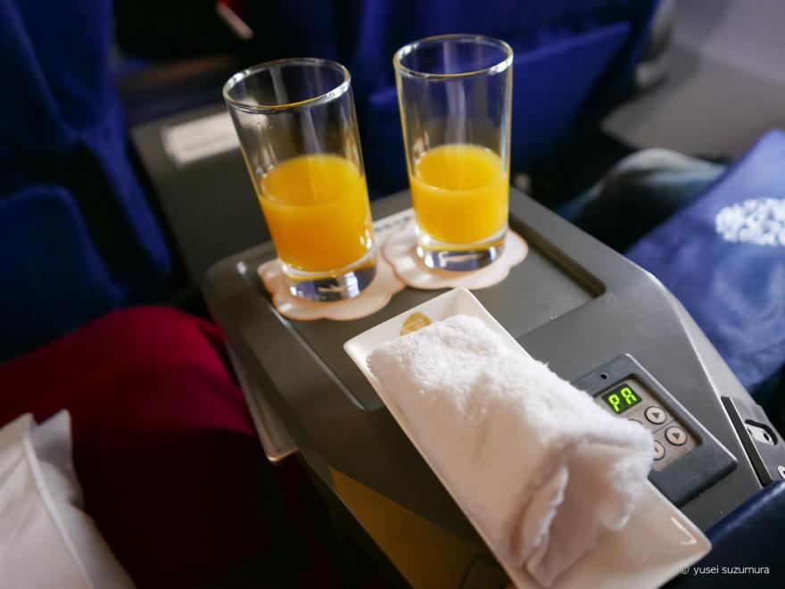 オレンジジュース ビジネスクラス