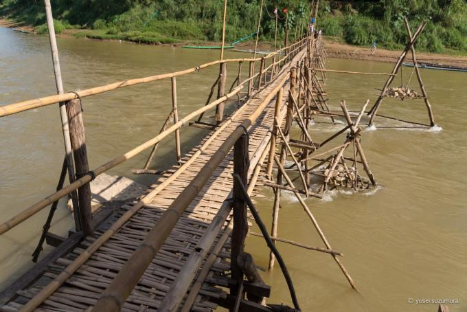 メコン川 竹の橋