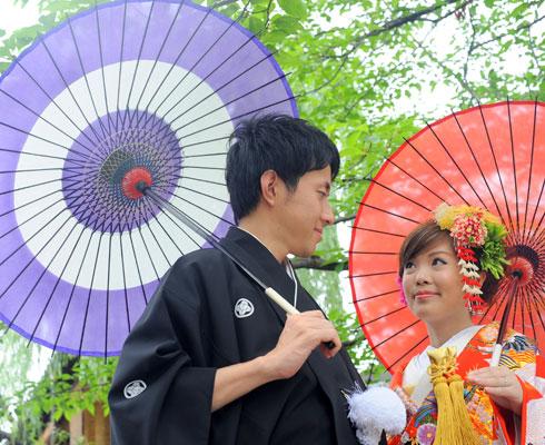 公園や日本庭園等、ご希望のロケーションでの撮影