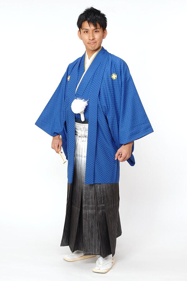 紋付袴 ブルー