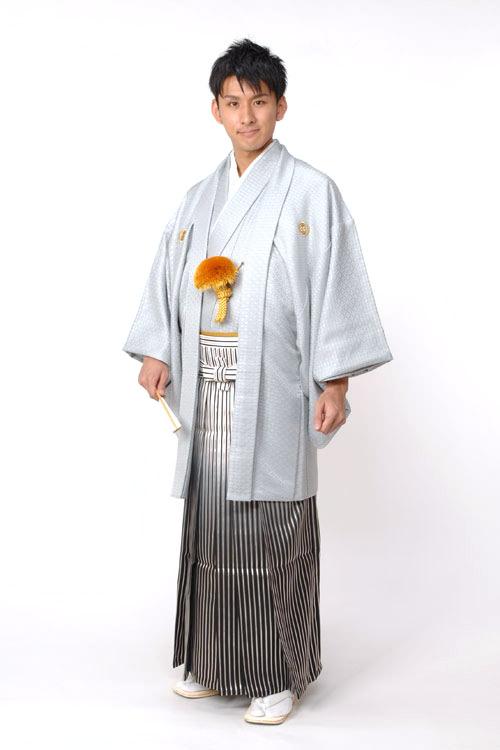 紋付袴 シルバー