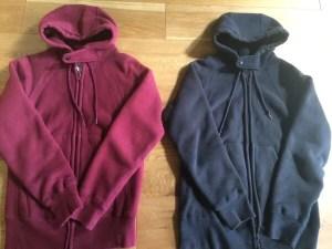 workaday zip-hoody black-burgundy