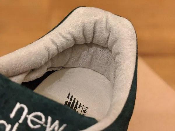 UKメイドの名品番【ニューバランスM1500・レビュー】サイズ感や履き心地を元靴屋が紹介・内張り画像