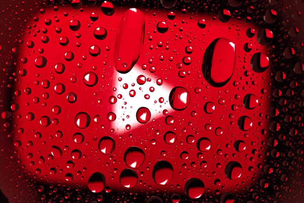 water droplets on red surface