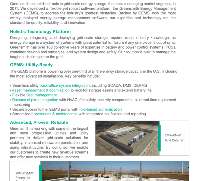 Energy Storage Brochure
