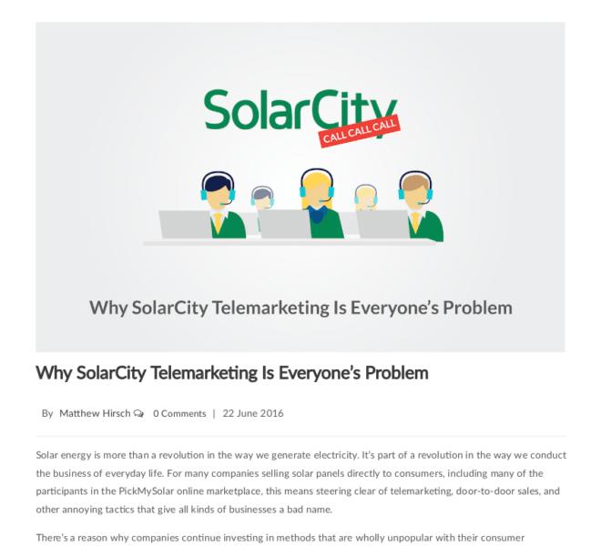 SolarCity Telemarketing